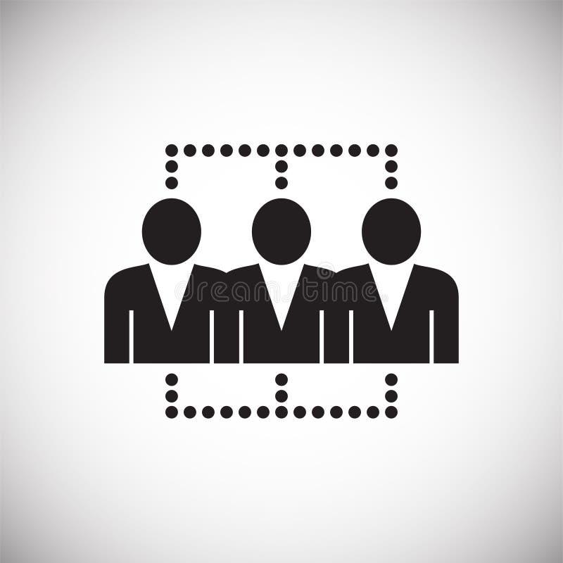 Netwerk van verbonden mensen op witte achtergrond stock illustratie