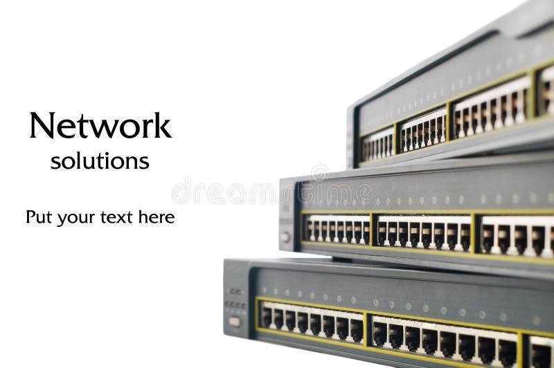 Netwerkapparatuur stock afbeeldingen