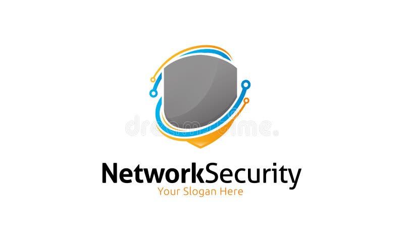 Netwerkbeveiliging Logo Template stock illustratie