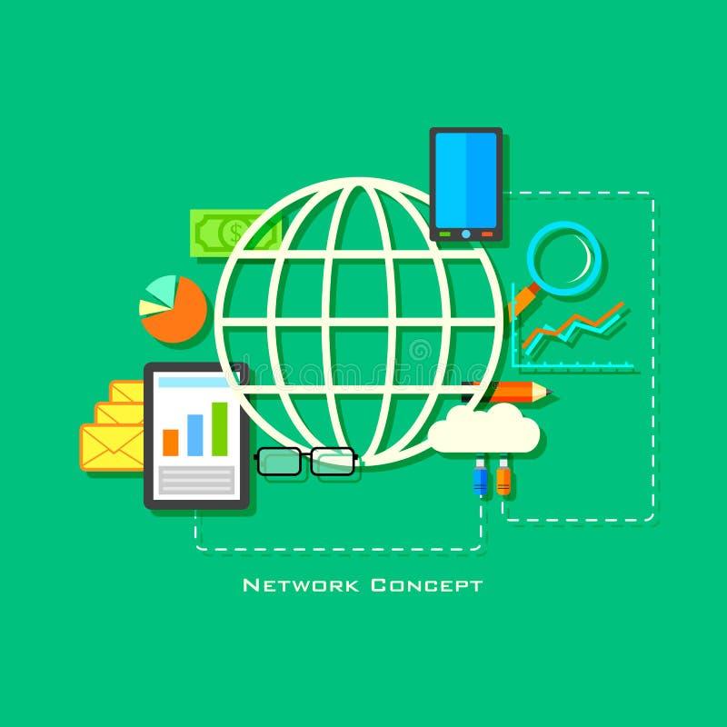 Netwerkconcept stock illustratie