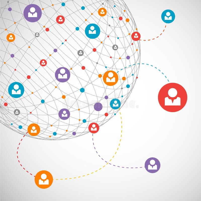Netwerkconcept/Sociale media vector illustratie