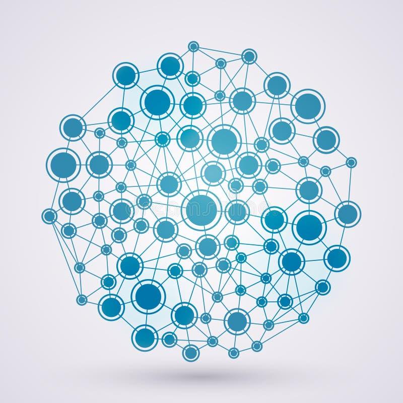 Netwerken vector illustratie