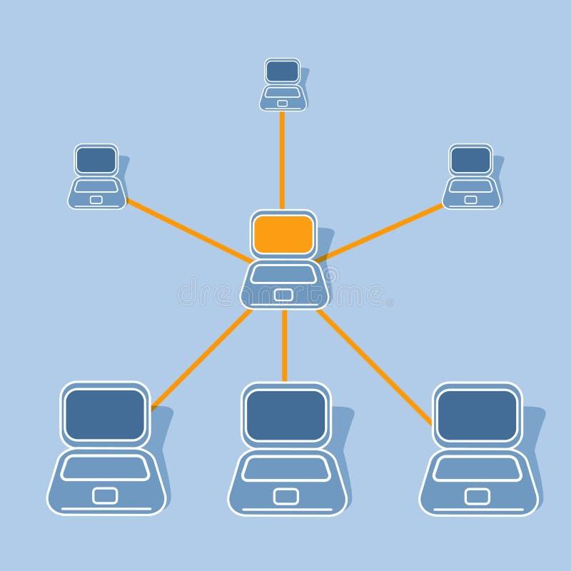 Netwerken stock illustratie