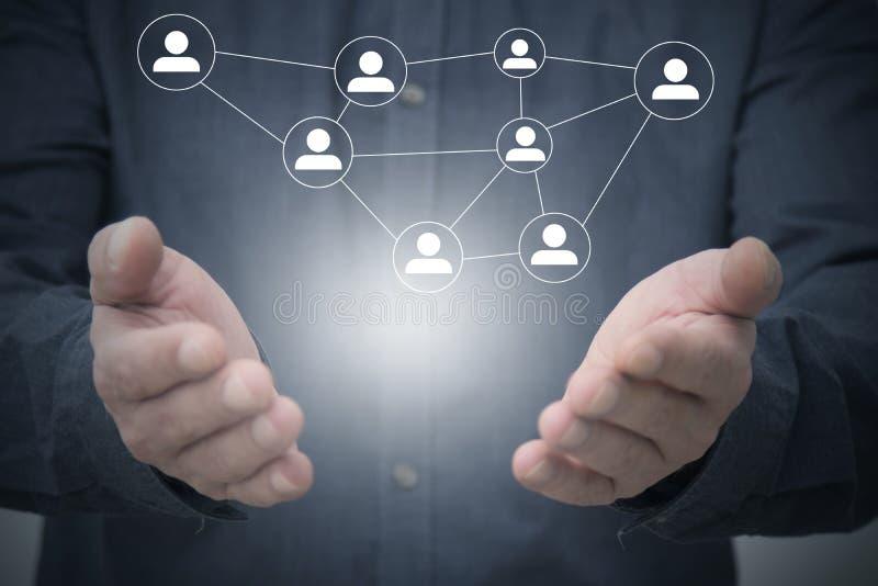 Netwerken en mededelingen stock foto
