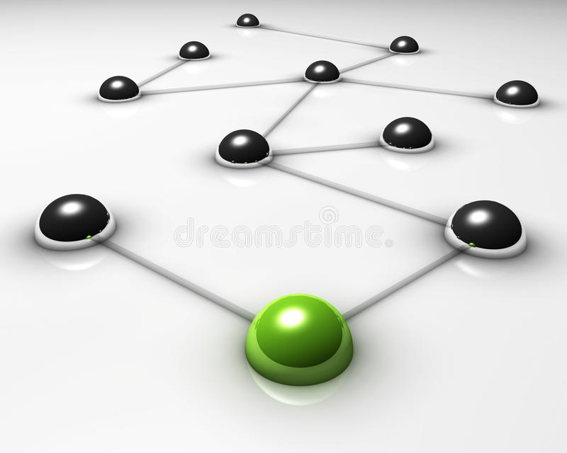 Network. Abstract demonstration of network and communication - 3D stock illustration