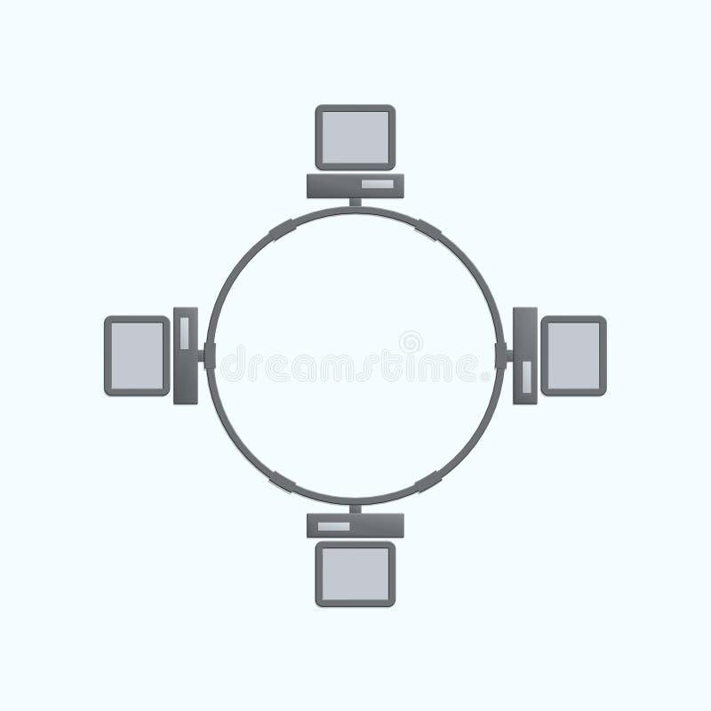 Network royalty free illustration
