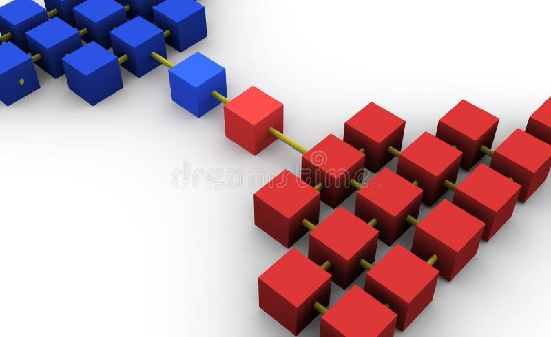 Network stock illustration