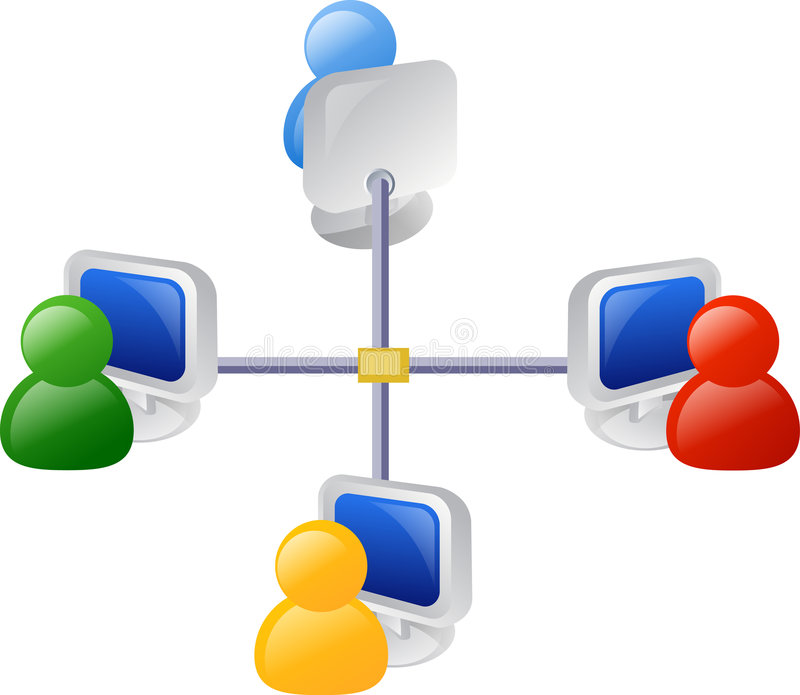 Network. Computer networking icon or illustration