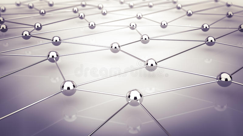 Network. Abstract demonstration of network and communication - 3D royalty free illustration