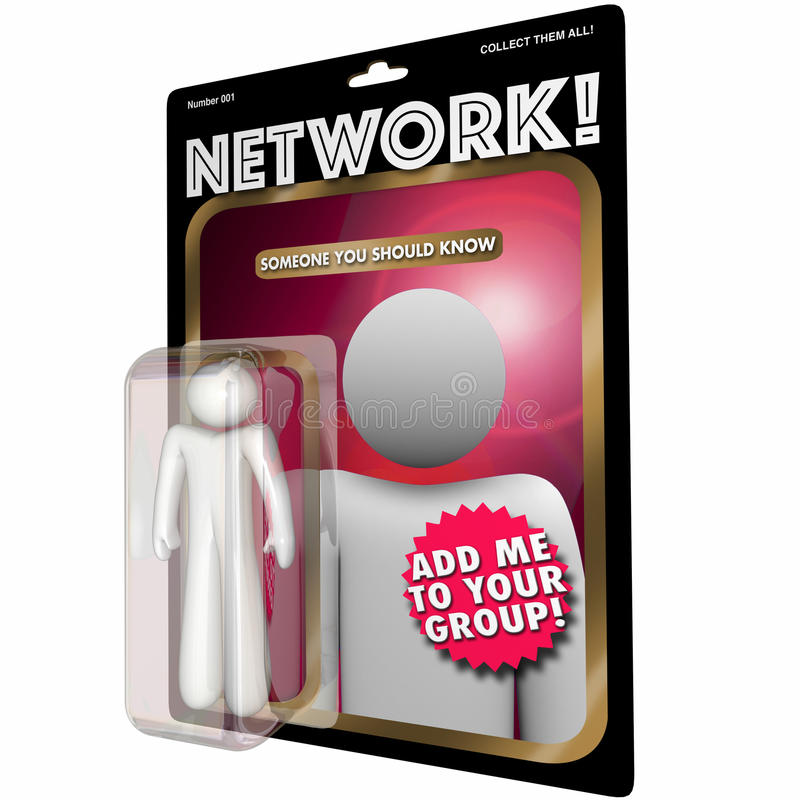 Network Action Figure Connect with People vector illustration