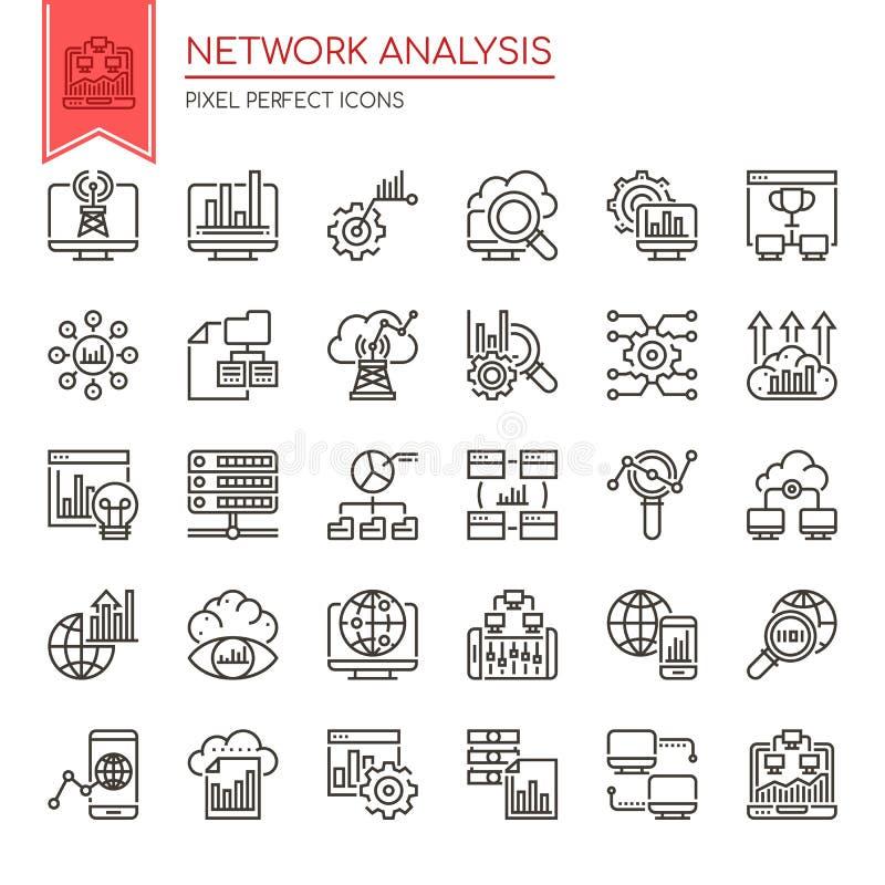 Network Analysis vector illustration