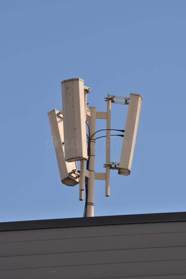 Download Network antenna stock photo. Image of roof, coverage - 25610338