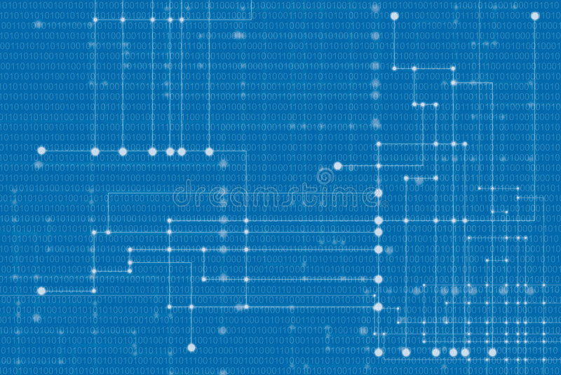 Network background. Abstract network background on a blue