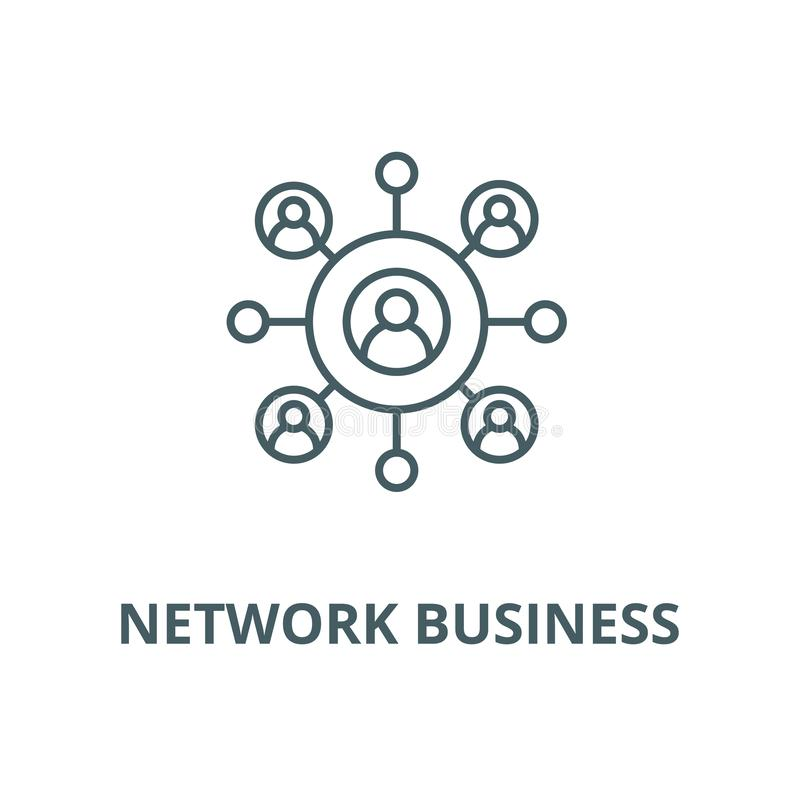 Network business vector line icon, linear concept, outline sign, symbol stock illustration