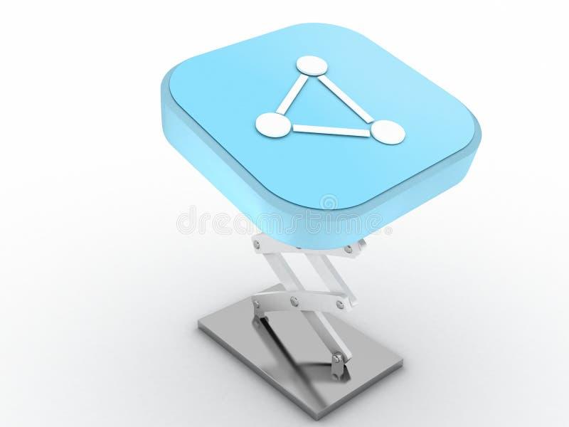 Download Network Button stock illustration. Illustration of social - 24881369