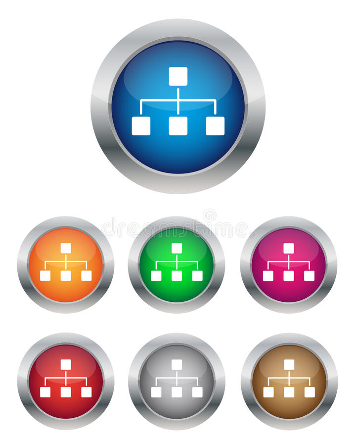 Download Network buttons stock vector. Image of illustration, business - 23972588