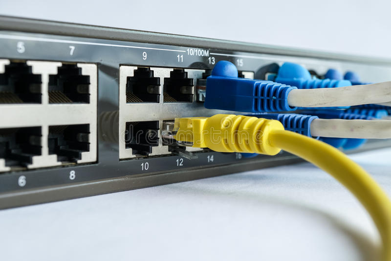 Network Cable Connect To Router Stock Photo Image Of
