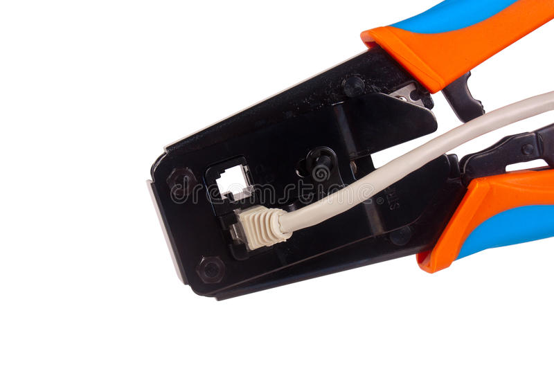 Download Network cable crimper stock photo. Image of closeup, patchcord - 22427376
