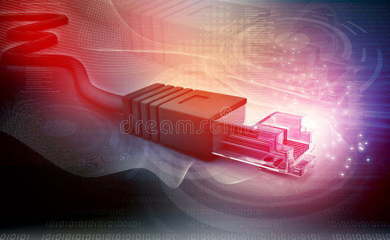 Network cable tech stock image