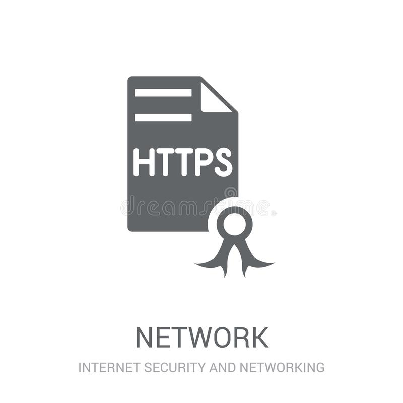 network certificate icon. Trendy network certificate logo concept on white background from Internet Security and Networking royalty free illustration