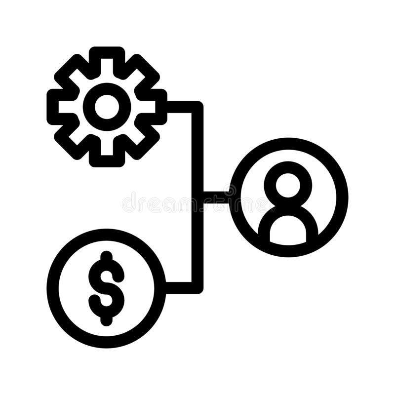 Network chart setting bfood cream pack vector thin line icon royalty free illustration