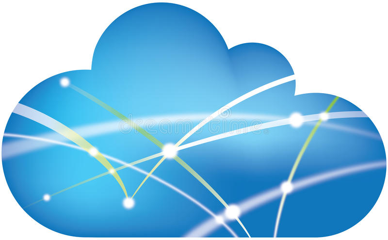 Download Network cloud stock illustration. Illustration of connect - 19869267