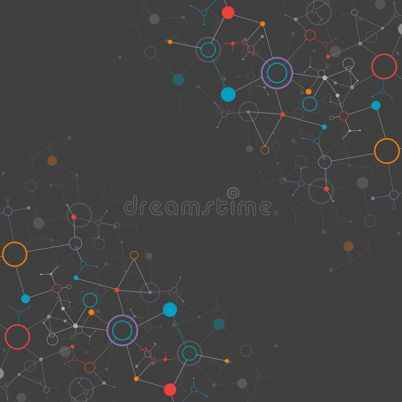 Download Network Color Technology Background Stock Vector - Image: 43483736