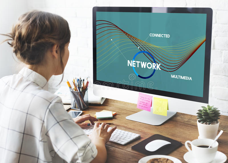 Network Communication Connection Web concept royalty free stock images