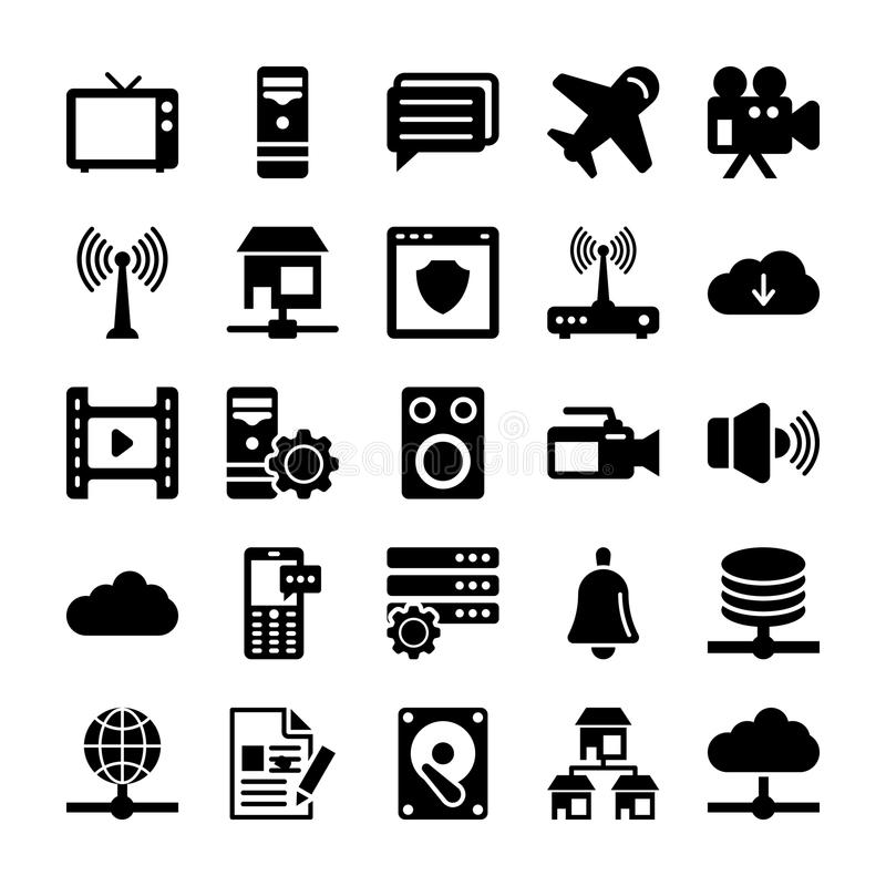 Network and Communication Vector Icons 6 stock illustration