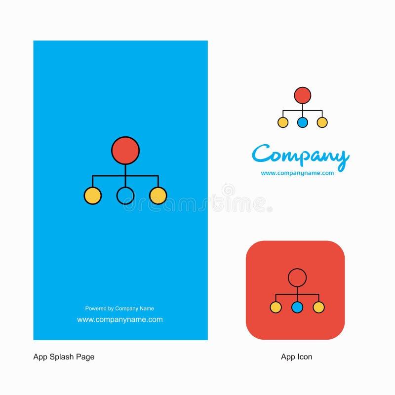 Network Company Logo App Icon y diseño de la página del chapoteo Elementos creativos del diseño del App del negocio libre illustration