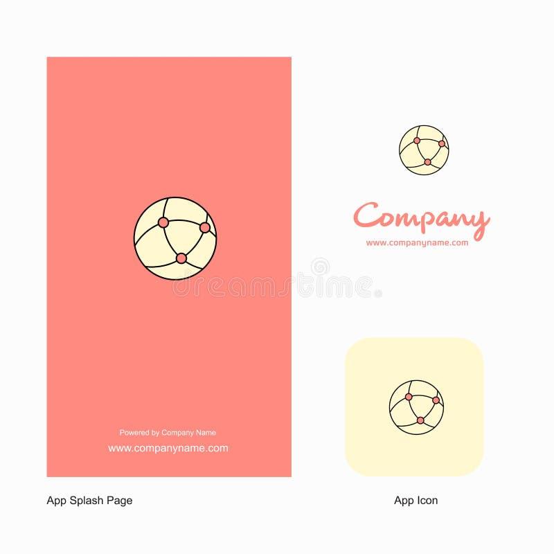 Network Company Logo App Icon y diseño de la página del chapoteo Elementos creativos del diseño del App del negocio ilustración del vector