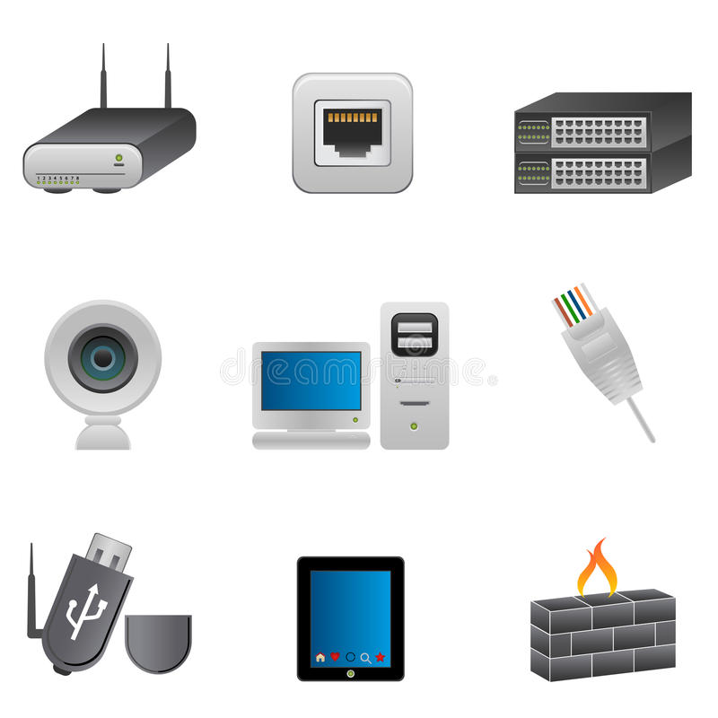 Network and computer devices vector illustration