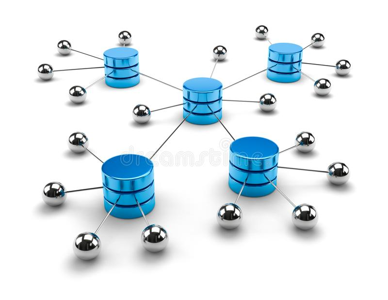 Network Computing Data Storage Concept stock illustration