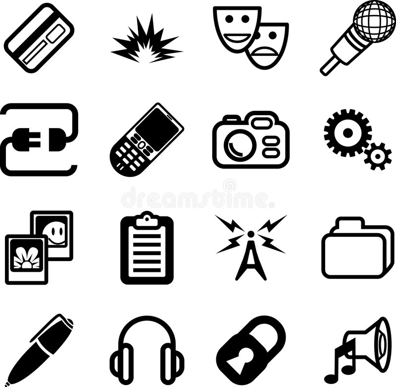 Network and computing Icon Ser royalty free stock photography