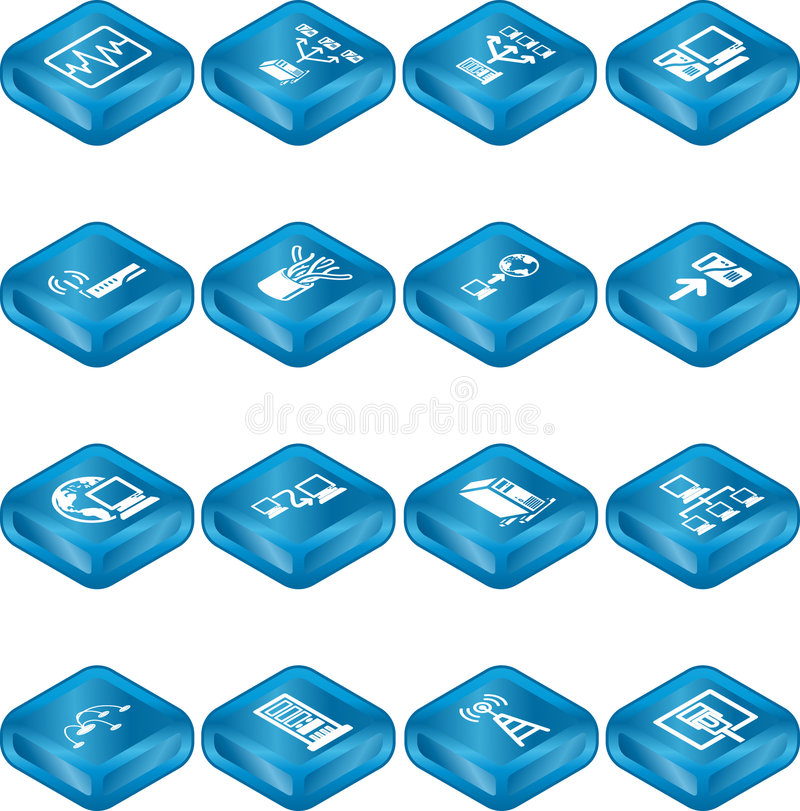 Network Computing Icons Series stock illustration