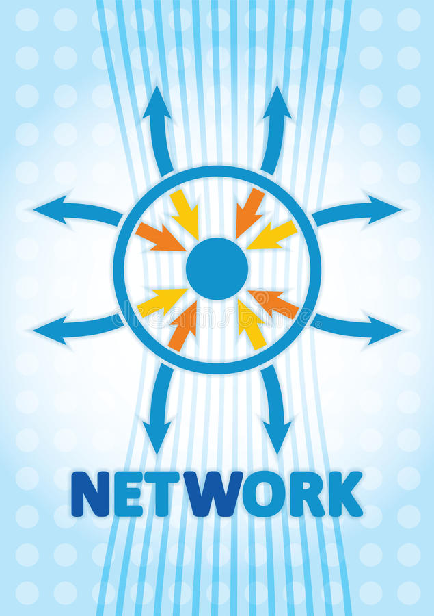 Network concept royalty free illustration