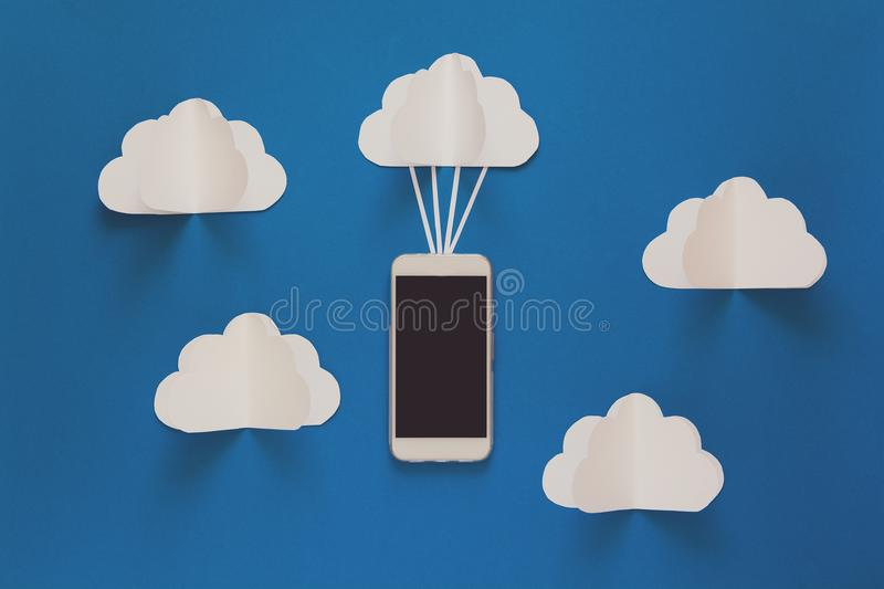 Network connection and cloud storage technology concept. Data communications and cloud computing network concept. royalty free stock photo