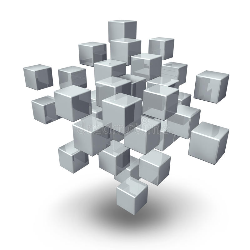 Network Connection Cubes vector illustration