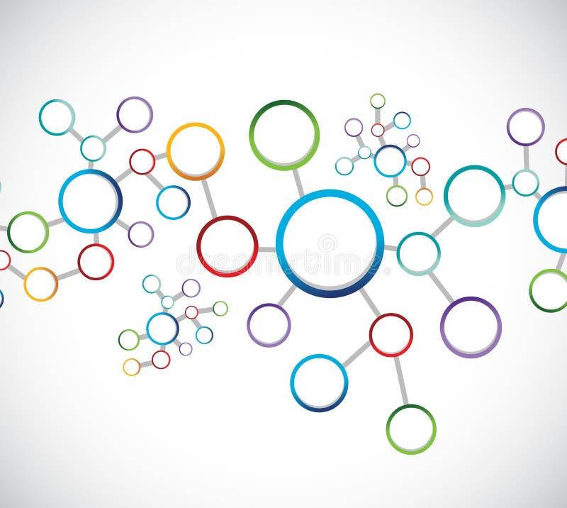 Network connection diagram illustration design. Over a white background royalty free illustration