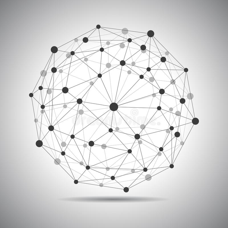 Network connection, globe connection, technology sphere, concept future world - vector. Network connection, globe connection, technology sphere, concept future vector illustration