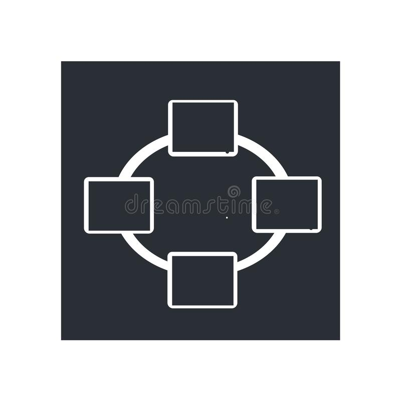 Network Connection icon vector sign and symbol isolated on white background, Network Connection logo concept. Network Connection icon vector isolated on white vector illustration