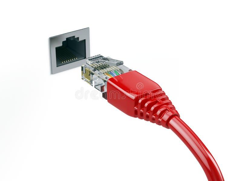 Network Connection Konzept lizenzfreie abbildung