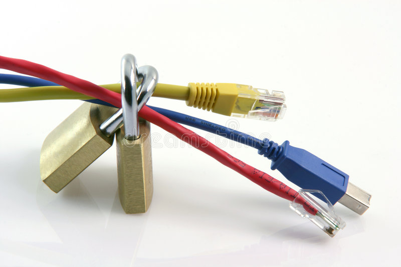 Network connections safe stock photo