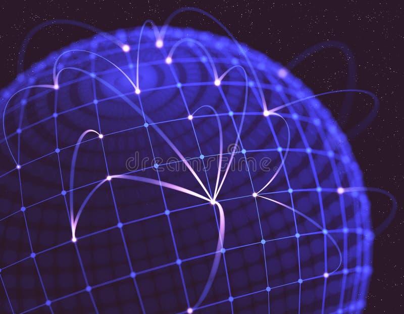 Download Network stock illustration. Image of earth, global, internet - 32491197