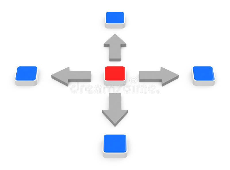 The network stock illustration