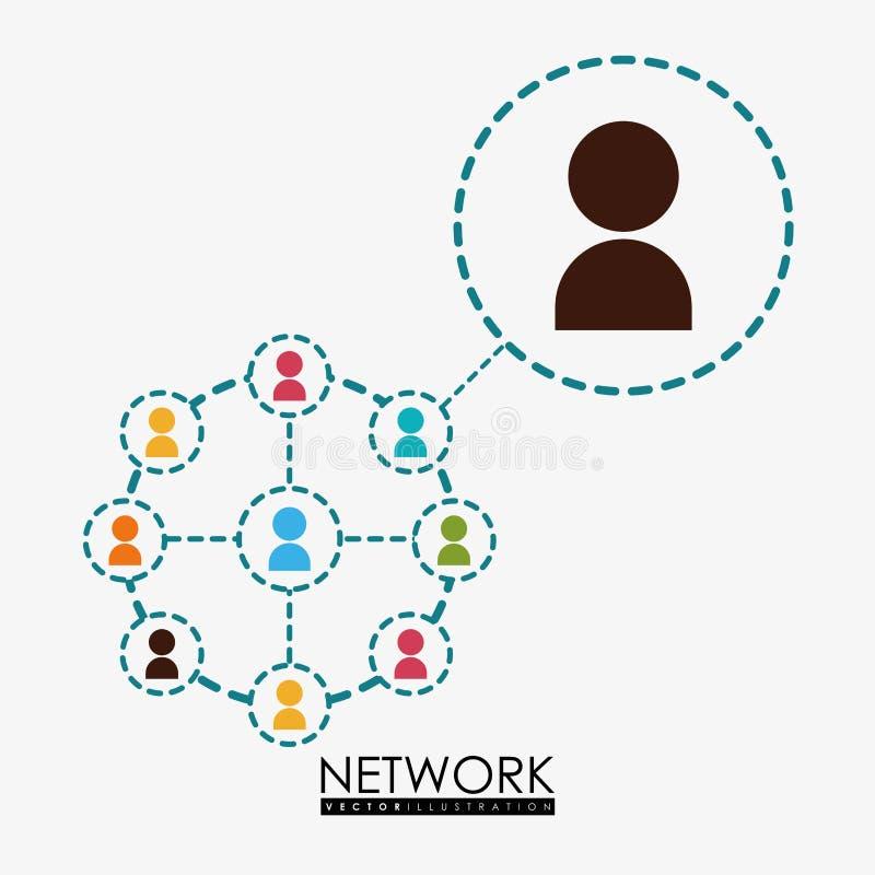 Network design. Network digital design, vector illustration 10 eps graphic stock illustration