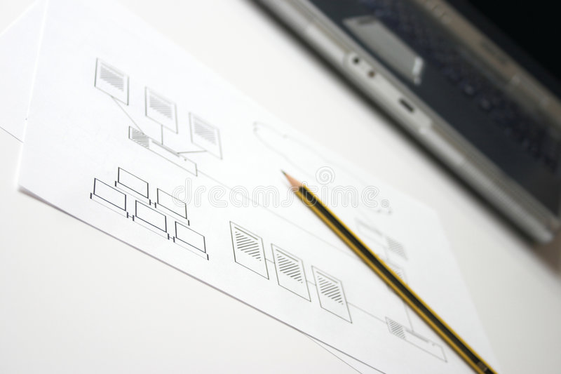 Network designing royalty free stock photography