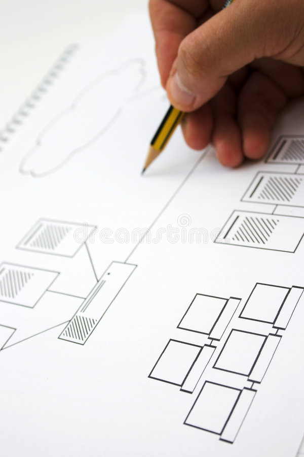 Network designing stock images