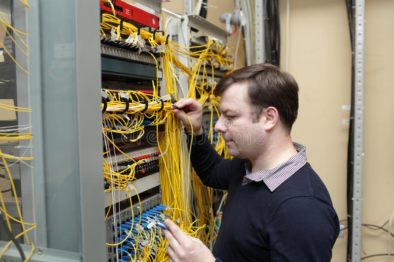 Network engineer royalty free stock image