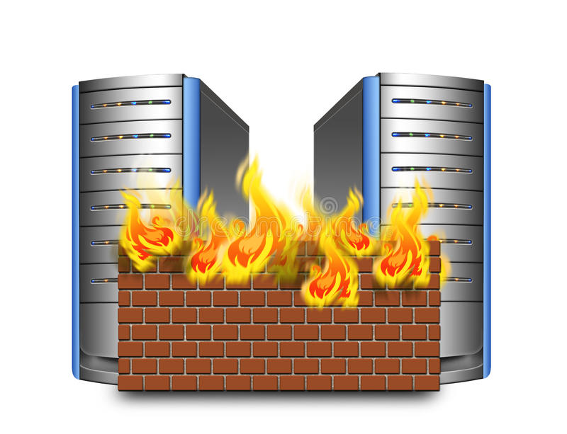 Network firewall royalty free illustration
